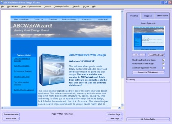 ABCWebWizard Professional Web Design 9.0